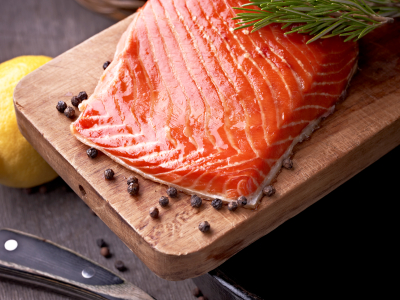 Smoked Salmon with herbs